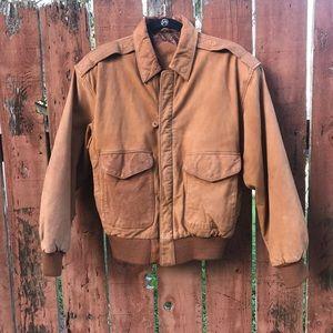 VTG oversized leather jacket